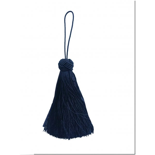 Turks Head Knot Tassel - Navy Blue 10.5cm