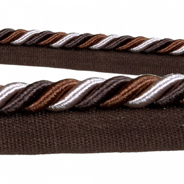 Piping Cord 8mm 3 Tone Twist on Tape - Chocolate (Price is per metre)