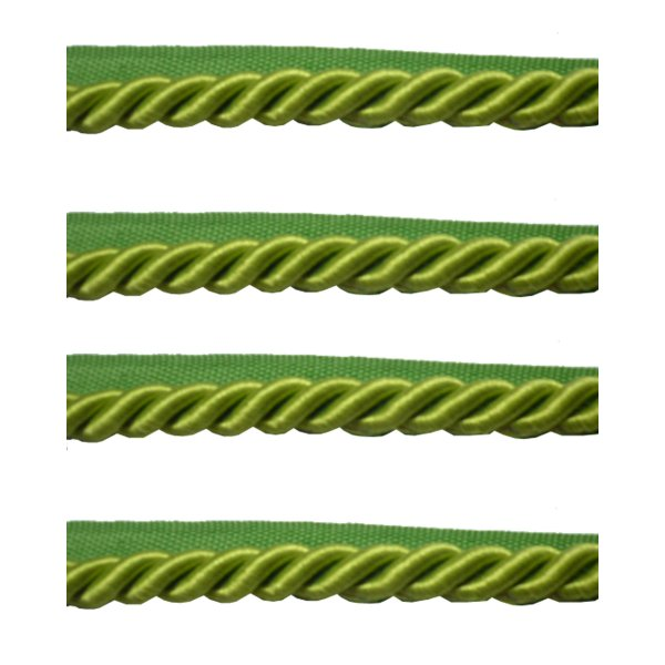 Piping Cord 8mm on Tape - LIME GREEN