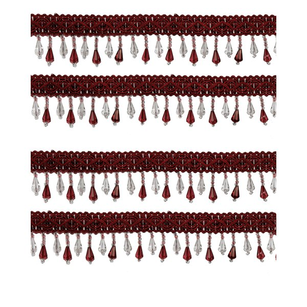 Fringe Beading - Red Wine 28mm (Price is per metre)