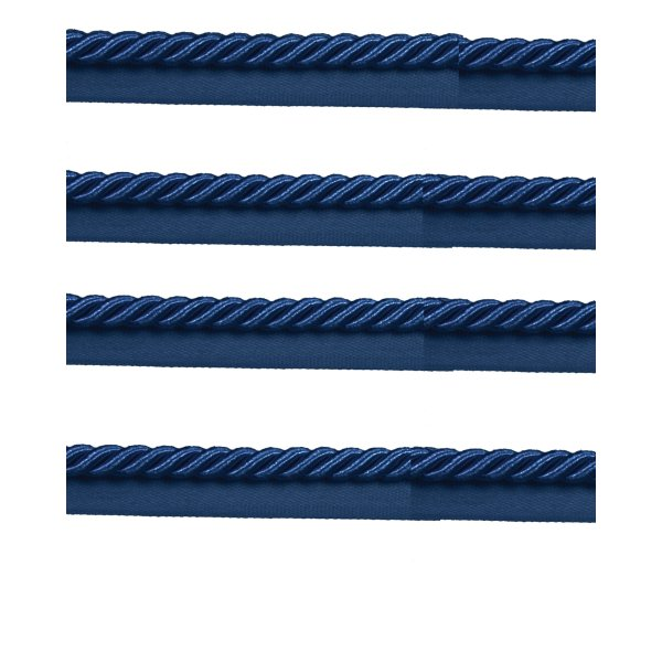 Piping Cord on Tape - NAVY BLUE