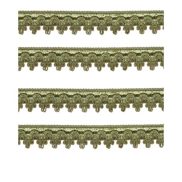 Large Fancy Braid - Antique Green 27mm (Price is per metre)