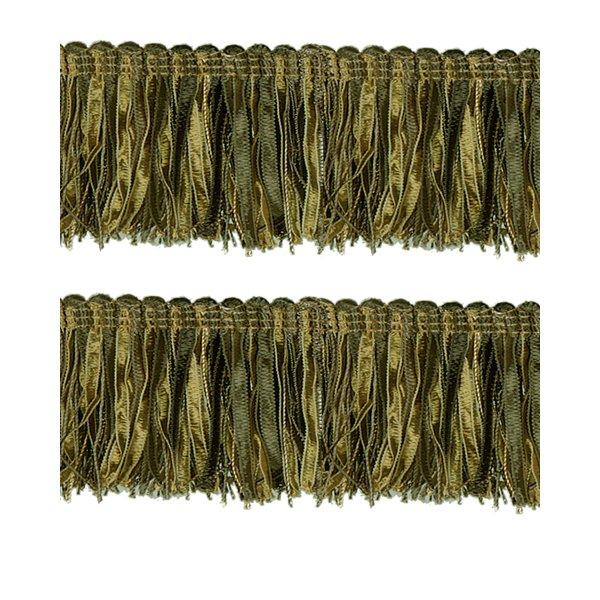 Bullion Fringe - Olive / Antique Gold 6cm (Prices per metre)