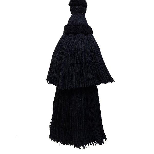 Natural Cotton Tassel - Black 15.5cm
