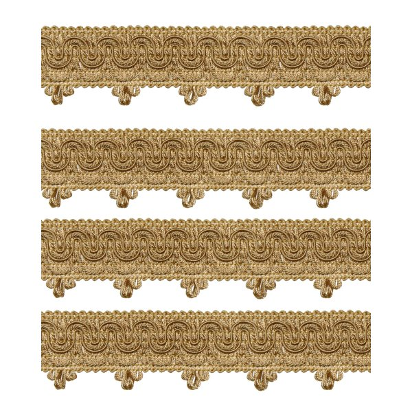 Ornate Scalloped Braid - Gold 45mm (Price is per metre)