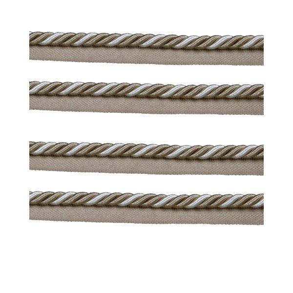 Piping Cord 8mm 2 Tone Twist on Tape - Beige (Price is per metre)