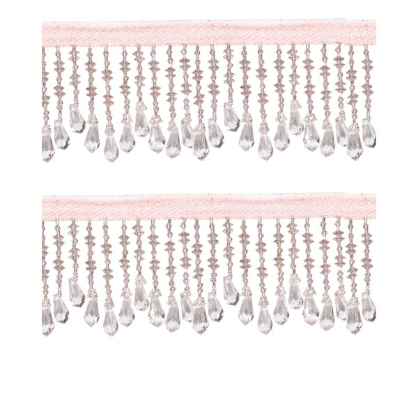 Fringe Beading - Pale Pink 6.4cm (Price is per metre)