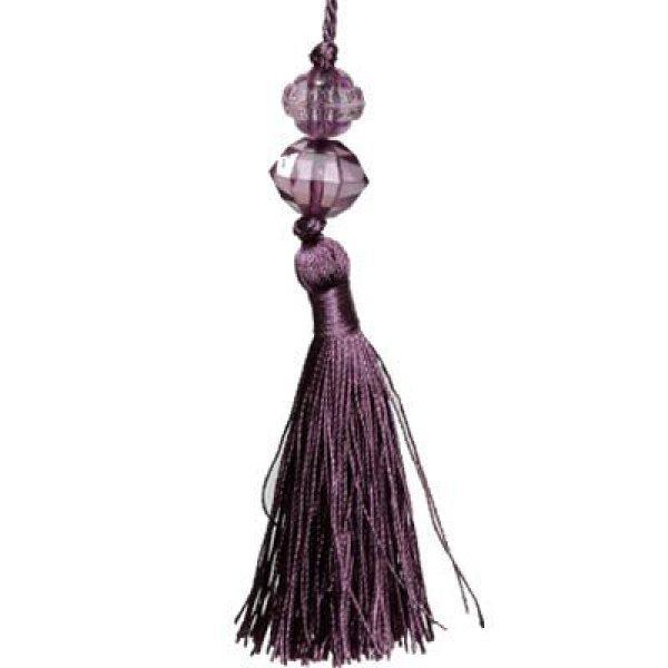 Large Tassel with Bead - Purple 13.5cm