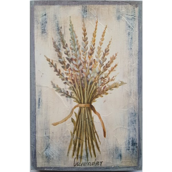 Hand finished wall art 30cm x 20cm - Lavender