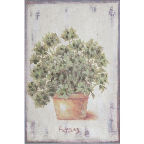 Hand finished wall art 30cm x 20cm - Parsley