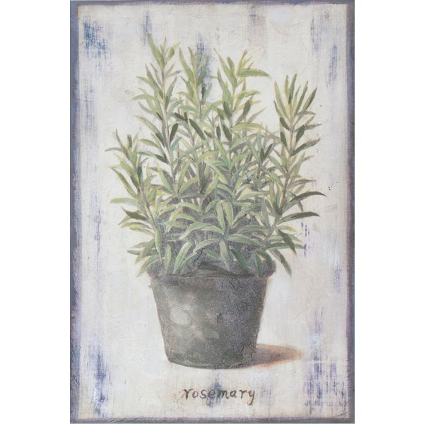 Hand finished wall art 30cm x 20cm - Rosemary