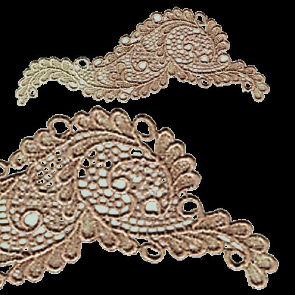 lace applique 2 pieces 105 x 45mm