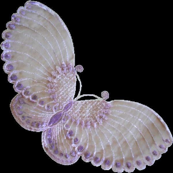 Lace 2 x Butterflies 14 x 23cm