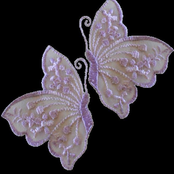 lace 2 x Butterflies purple 6 x 4.4 cm