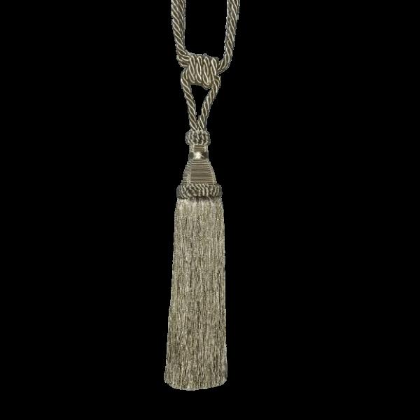 Pair Curtain Tie Back - 30cm Tassel - Taupe