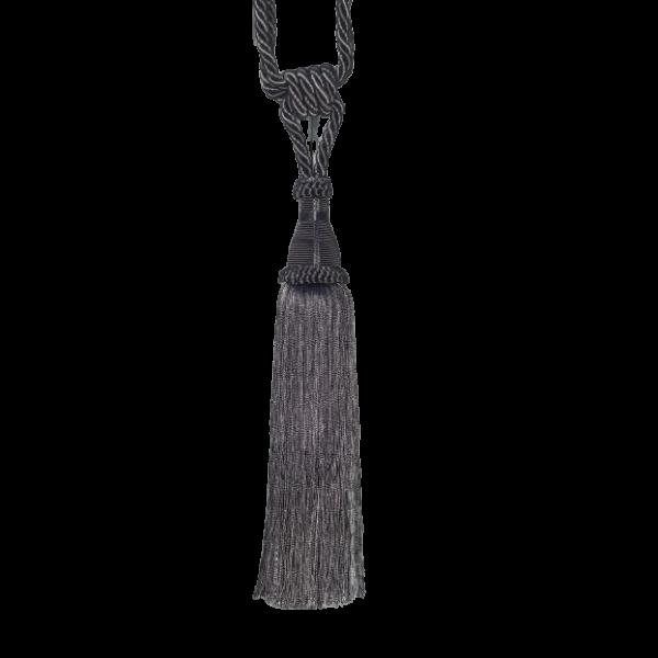 Pair Curtain Tie Back - 30cm Tassel - Charcoal
