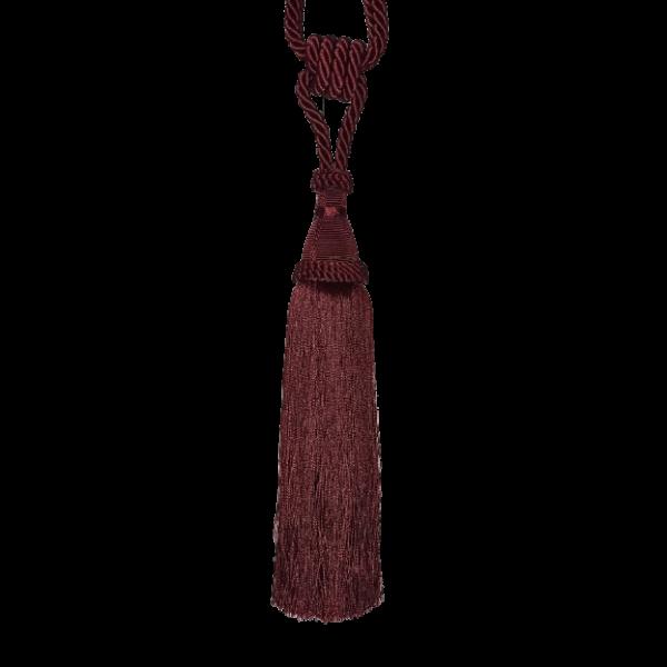 Pair Curtain Tie Back - 28cm Tassel - Red Wine