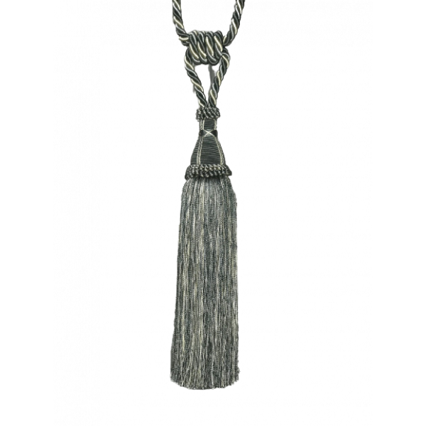 Pair Curtain Tie Back - 30cm Tassel - Blue