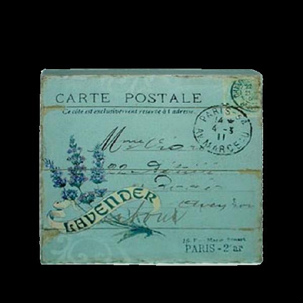 Canvas Print 24cm x 24cm - Lavender postcard