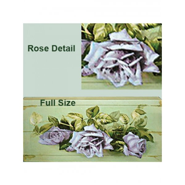 Canvas Print Purple Rose Bunch 345mm x 175mm