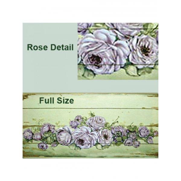 Canvas Print 34.5cm x 75cm - Purple Rose