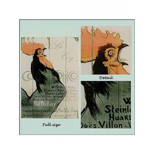 Canvas Print 28cm x 20cm - Le Coq