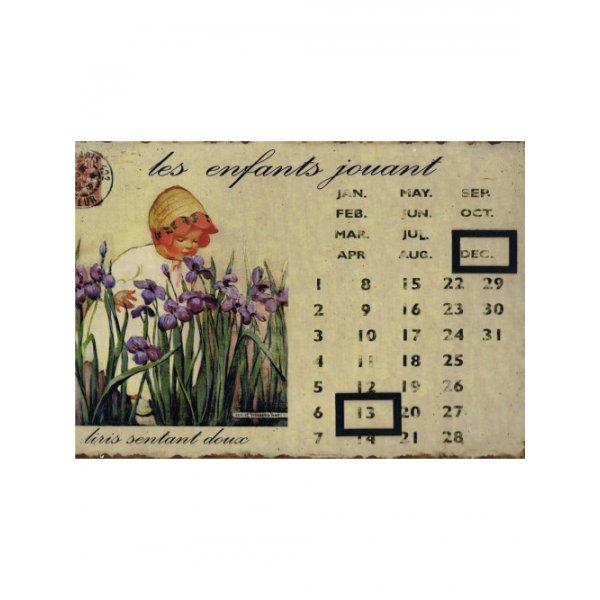 Calendar 20cm x 30cm - French infant with irises