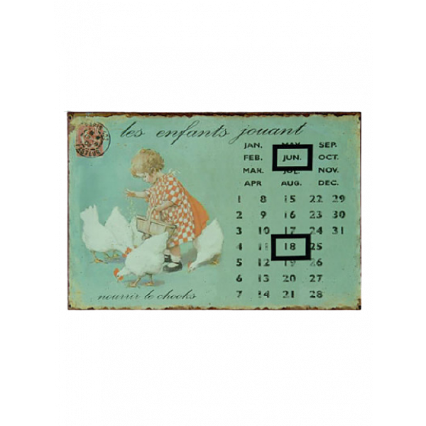 Calendar 20cm x 30cm - French infant with chickens