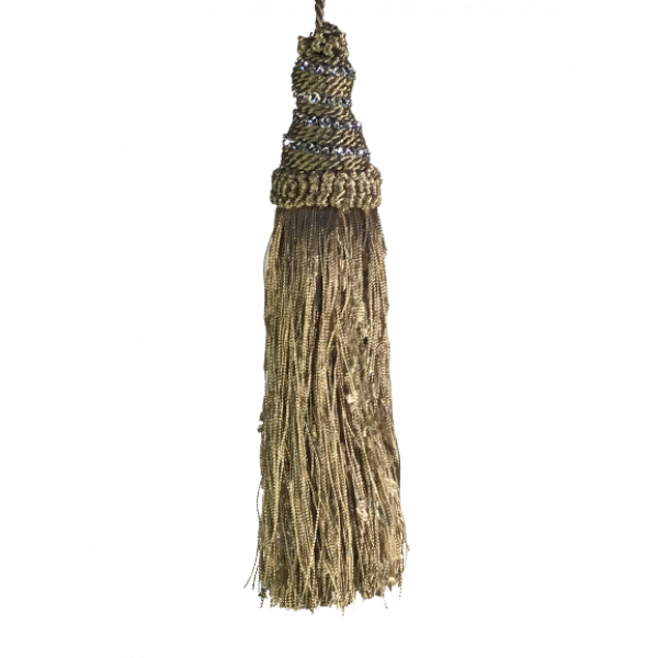 Tassel with Diamante Top - Taupe 21cm