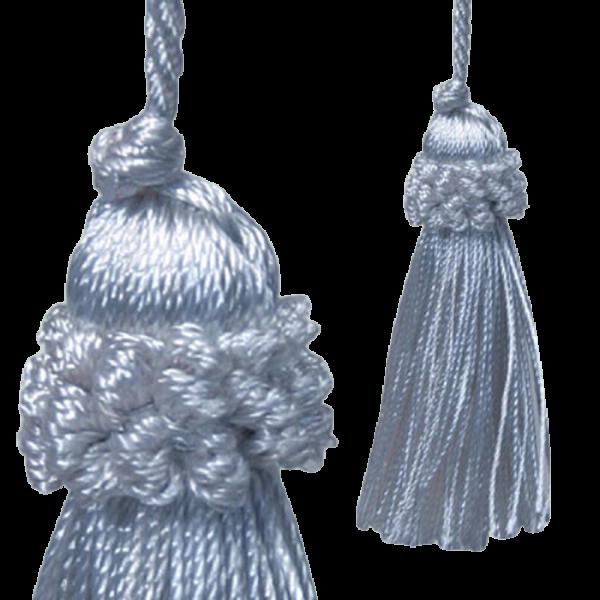 Fancy Tassel - Silvery Blue 6cm