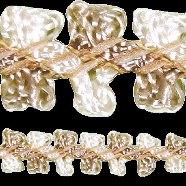 Rococo Trim Double Ribbon - Antique Cream 8mm (Price is per metre)