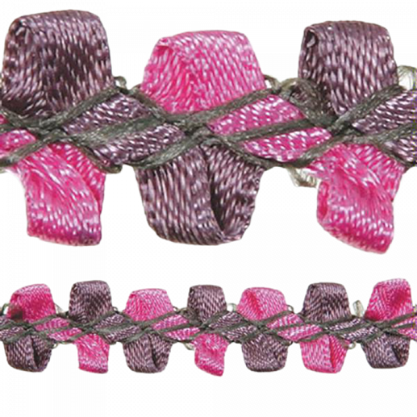 Rococo Trim - Red Wine / Pink 10mm (Price is per metre)